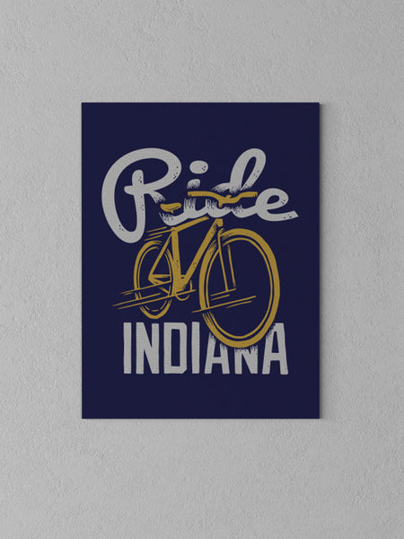 "Ride Indiana Canvas - Navy / 18 x 24"" from United State of Indiana  - 1"