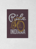 "Ride Indiana Canvas - Purple / 18 x 24"" from United State of Indiana  - 4"