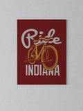 "Ride Indiana Canvas - Red / 18 x 24"" from United State of Indiana  - 5"