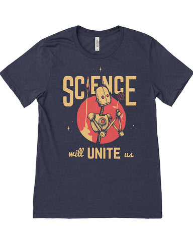 Science Will Unite Us Tee - United State of Indiana: Indiana-Made T-Shirts and Gifts