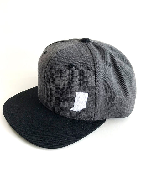 Indiana Grey Wool Snapback - United State of Indiana: Indiana-Made T-Shirts and Gifts