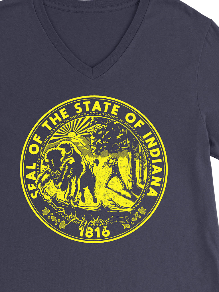 Indiana State Seal Unisex V-Neck