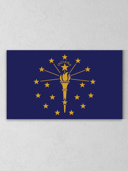 "Indiana State Flag Canvas - Navy / 12 x 20"" from United State of Indiana"