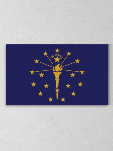 Indiana State Flag Canvas - United State of Indiana: Indiana-Made T-Shirts and Gifts