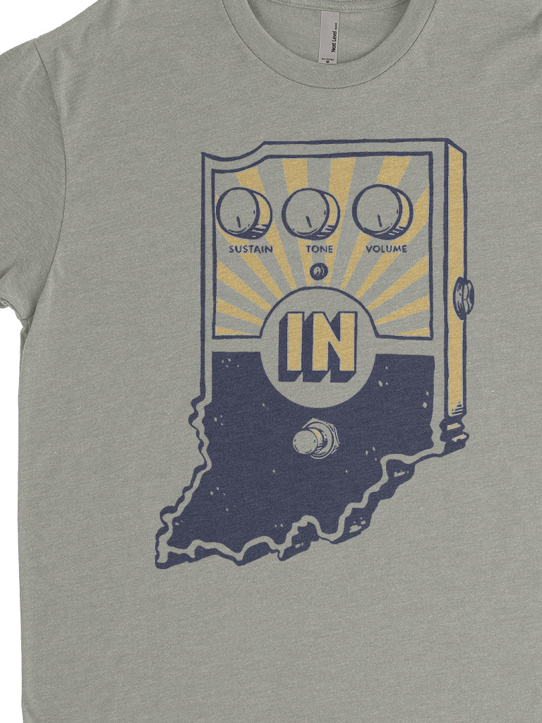 Sugar Cream Fuzz Tee - United State of Indiana: Indiana-Made T-Shirts and Gifts