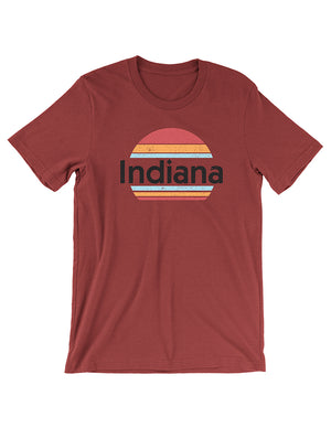 Sunset State Tee - United State of Indiana: Indiana-Made T-Shirts and Gifts