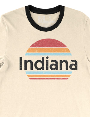 Sunset State Ringer Tee - United State of Indiana: Indiana-Made T-Shirts and Gifts