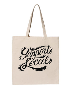 Support Local Tote Bag - United State of Indiana: Indiana-Made T-Shirts and Gifts