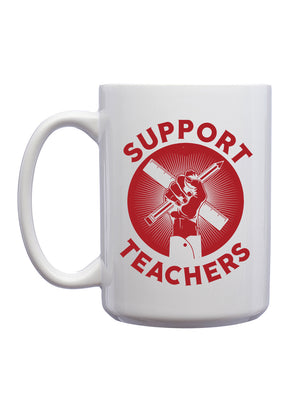 Support Teachers Mug - United State of Indiana: Indiana-Made T-Shirts and Gifts