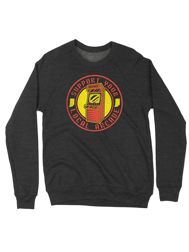 Support Your Local Arcade Crewneck Sweatshirt