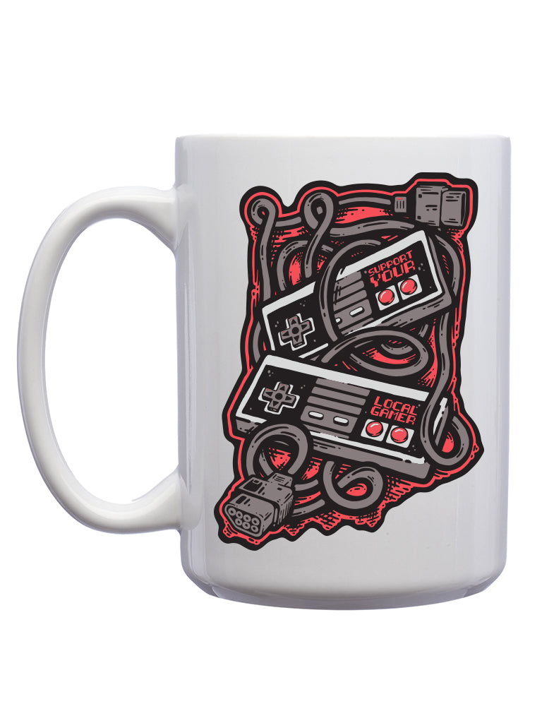 Support Your Local Gamer Mug - United State of Indiana: Indiana-Made T-Shirts and Gifts