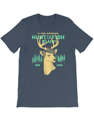 Swanson Hunt and Fish Club Unisex Tee - United State of Indiana: Indiana-Made T-Shirts and Gifts