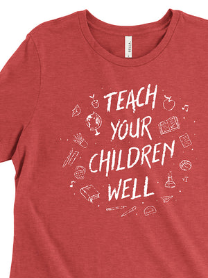 Teach Your Children Well Women's Tee - United State of Indiana: Indiana-Made T-Shirts and Gifts