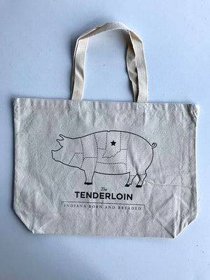 Tenderloin Tote Bag - United State of Indiana: Indiana-Made T-Shirts and Gifts