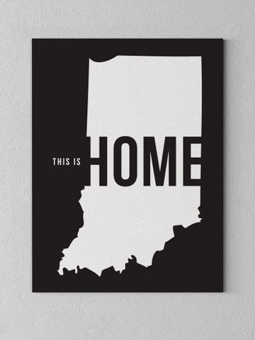 "This is Home Canvas - Navy / 18 x 24"" from United State of Indiana  - 1"