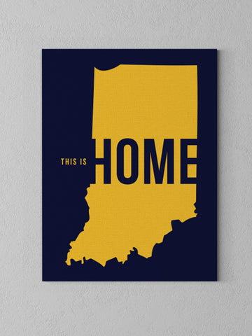 This is Home Canvas - United State of Indiana: Indiana-Made T-Shirts and Gifts