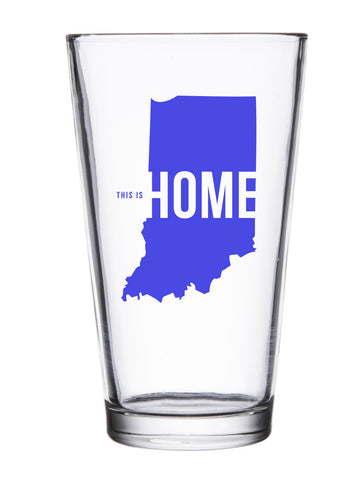 This is Home Pint Glass - United State of Indiana: Indiana-Made T-Shirts and Gifts