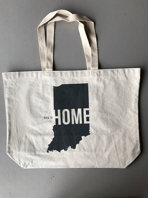 This is Home Tote Bag - United State of Indiana: Indiana-Made T-Shirts and Gifts