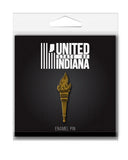 Torch Enamel Pin - United State of Indiana: Indiana-Made T-Shirts and Gifts