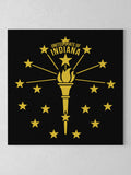 "Torch and Stars Canvas - Black / 12 x 12"" from United State of Indiana  - 3"