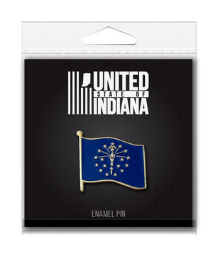Torch and Stars Enamel Pin - United State of Indiana: Indiana-Made T-Shirts and Gifts