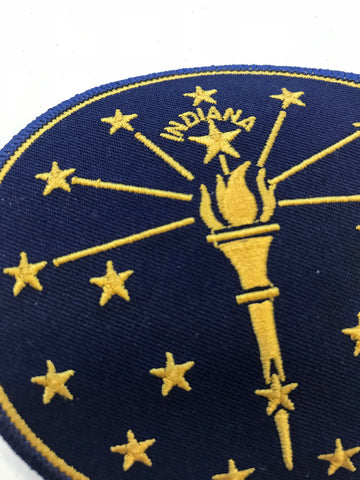 Torch and Stars Iron-On Patch