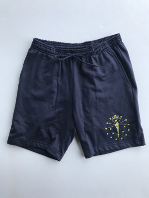 Torch & Stars Unisex Fleece Gym Shorts - United State of Indiana: Indiana-Made T-Shirts and Gifts