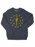 Torch and Stars Christmas Sweater Crewneck Sweatshirt