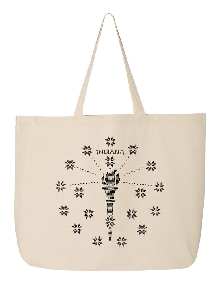 Torch and Stars Christmas Sweater Tote Bag