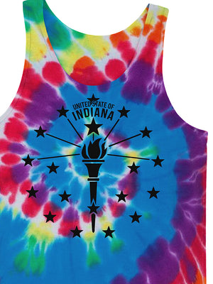 Torch and Stars Tie Dye Tank