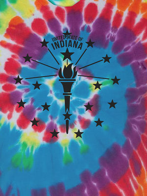 Torch and Stars Tie Dye Tee