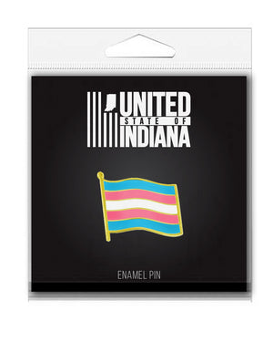 Trans Flag Enamel Pin