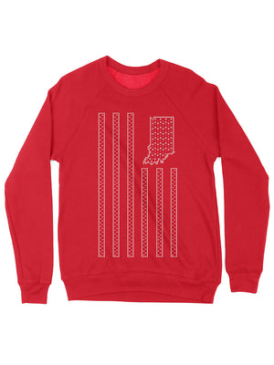 USI Flag Christmas Sweater Crewneck Sweatshirt