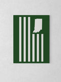 "USI Flag Canvas - Green / 18 x 24"" from United State of Indiana  - 3"