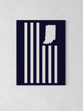 "USI Flag Canvas - Navy / 18 x 24"" from United State of Indiana  - 4"