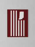 "USI Flag Canvas - Red / 18 x 24"" from United State of Indiana  - 2"