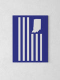 "USI Flag Canvas - Royal Blue / 18 x 24"" from United State of Indiana  - 5"