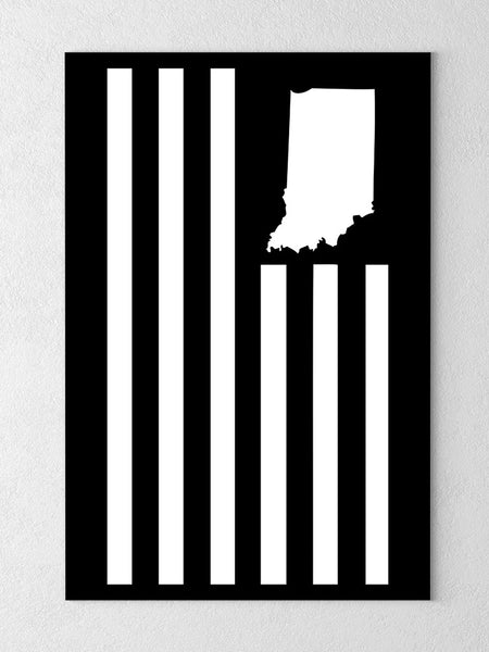 "USI Flag Canvas - Black / 18 x 24"" from United State of Indiana  - 1"