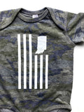 USI Flag Camo Onesie - United State of Indiana: Indiana-Made T-Shirts and Gifts