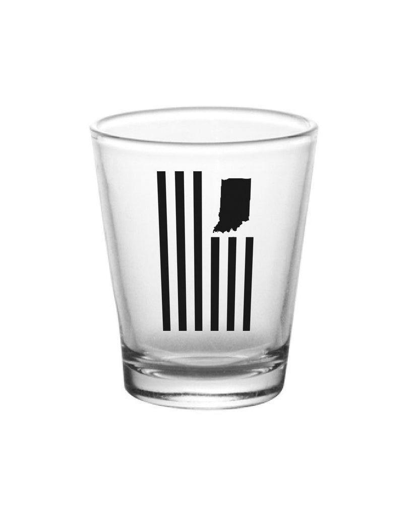 USI Flag Shot Glass - United State of Indiana: Indiana-Made T-Shirts and Gifts