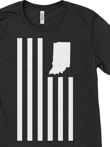 USI Flag Tee (10 Year Anniversary) - United State of Indiana: Indiana-Made T-Shirts and Gifts