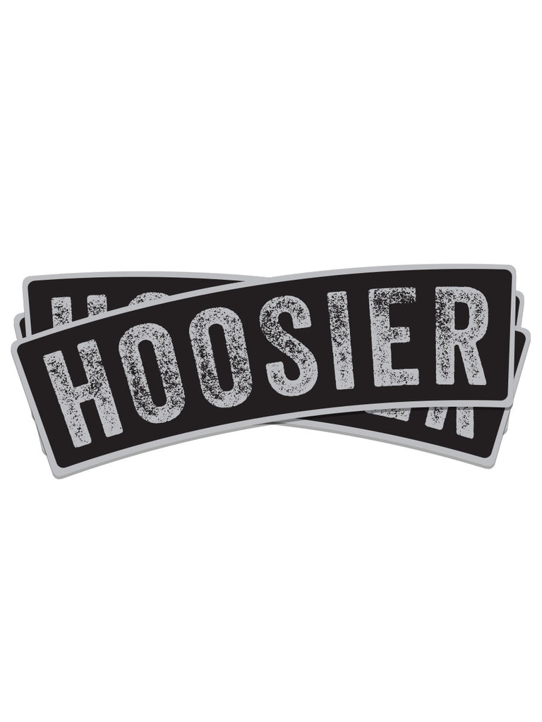 Vintage Black Hoosier Sticker - United State of Indiana: Indiana-Made T-Shirts and Gifts