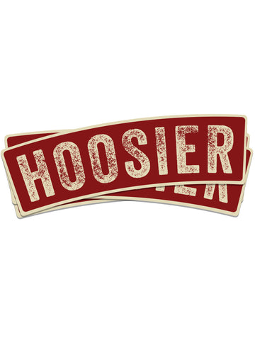 Vintage Crimson Hoosier Sticker - United State of Indiana: Indiana-Made T-Shirts and Gifts