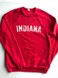 Vintage Indiana Crewneck Sweatshirt - United State of Indiana: Indiana-Made T-Shirts and Gifts