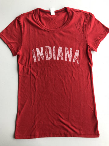 Vintage Indiana Women's Tee - United State of Indiana: Indiana-Made T-Shirts and Gifts