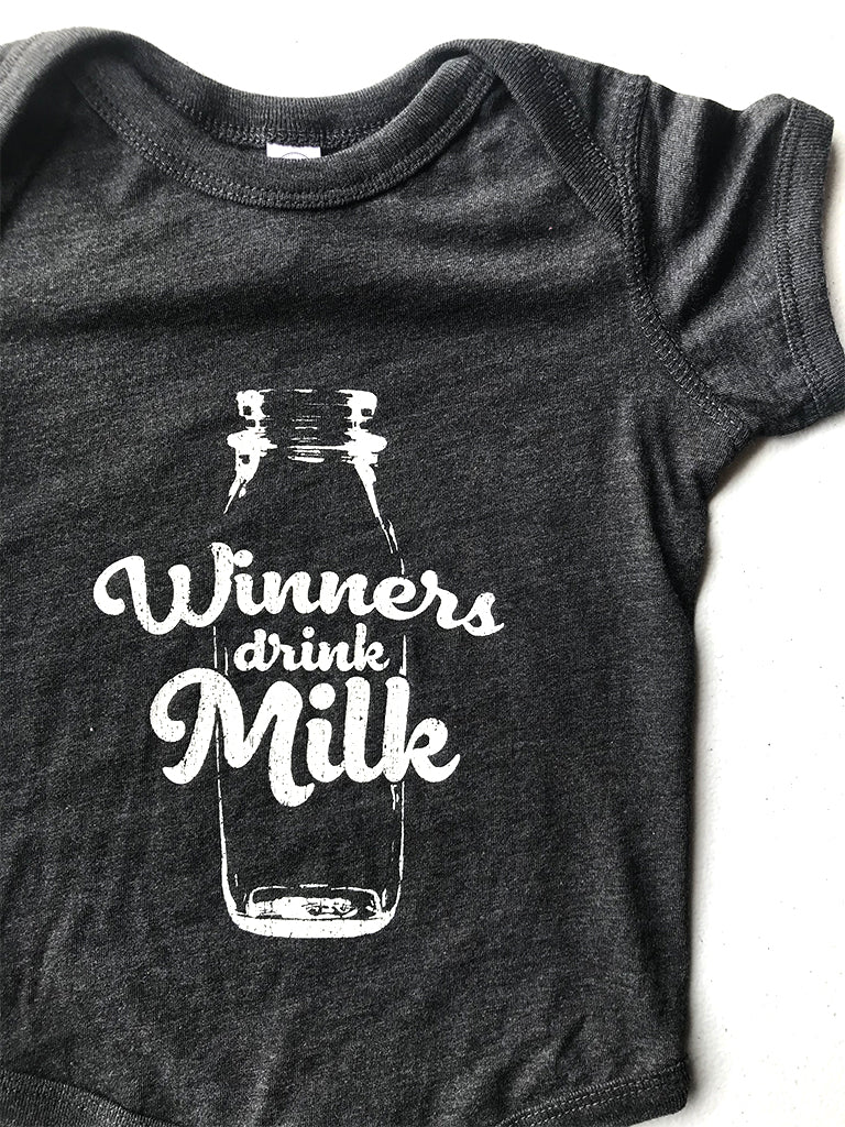 Vintage Winners Drink Milk® Onesie - United State of Indiana: Indiana-Made T-Shirts and Gifts