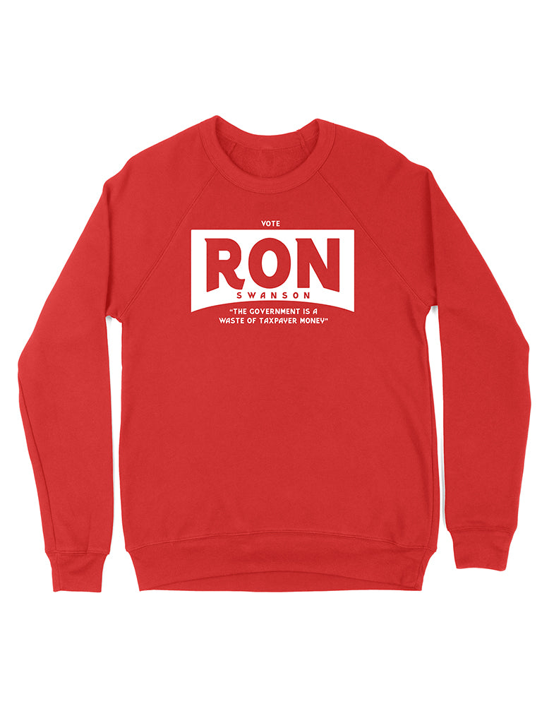 Vote Ron Swanson Crewneck Sweatshirt