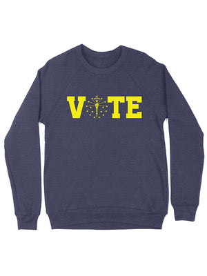 Vote Torch and Stars Crewneck Sweatshirt