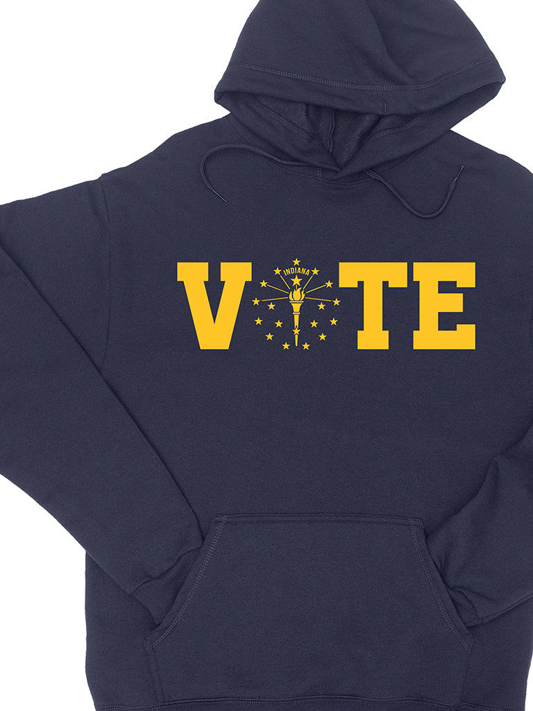 Vote Torch and Stars Pullover Hoodie