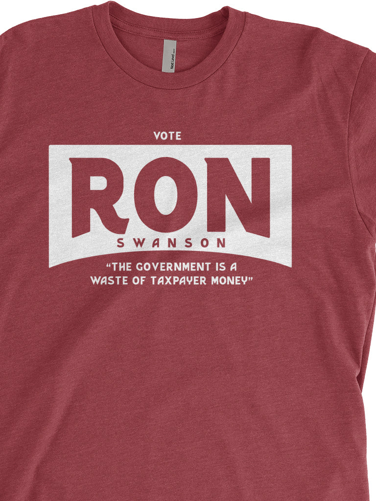 Vote Ron Swanson Unisex Tee - United State of Indiana: Indiana-Made T-Shirts and Gifts